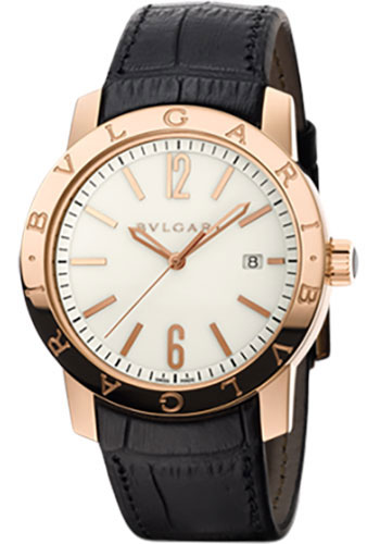 Bulgari Watches - Bulgari Bulgari 39 mm - Pink Gold - Alligator Strap - Style No: 101869 BBP39WGLD