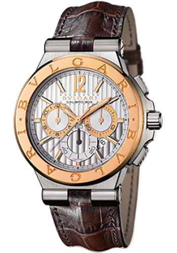 Bulgari Watches - Diagono 42 mm - Steel and Pink Gold - Style No: 101879 DG42C6SPGLDCH