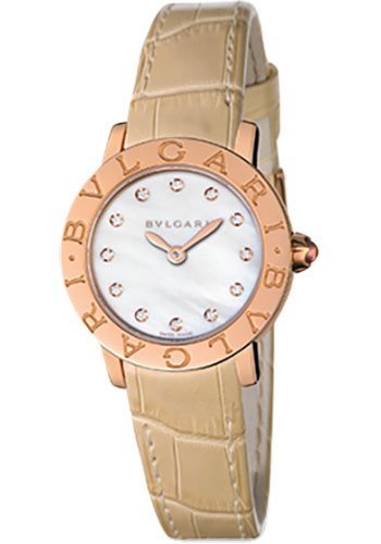 Bulgari Watches - Bulgari Bulgari 26 mm - Pink Gold - Alligator Strap - Style No: 101884 BBLP26WGL/12