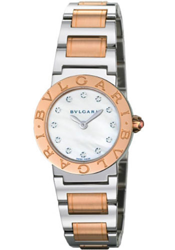 Bulgari Watches - Bulgari Bulgari 26 mm - Steel and Pink Gold - Bracelet - Style No: 101887 BBL26WSPG/12
