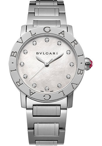 Bulgari Watches - Bulgari Bulgari 33 mm - Stainless Steel - Bracelet - Style No: 101888