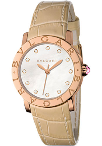 Bulgari Watches - Bulgari Bulgari 33 mm - Pink Gold - Alligator Strap - Style No: 101890 BBLP33WGL/12