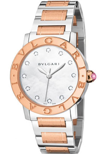 Bulgari Watches - Bulgari Bulgari 33 mm - Steel and Pink Gold - Bracelet - Style No: 101891 BBL33WSPG/12