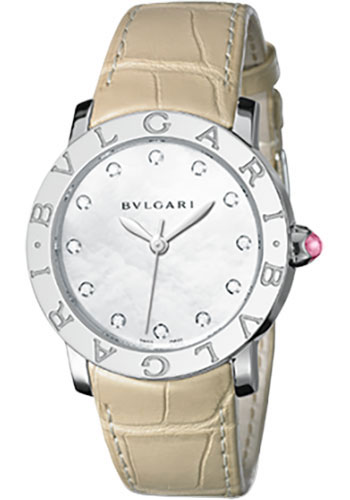 Bulgari Watches - Bulgari Bulgari 33 mm - Stainless Steel - Alligator Strap - Style No: 101892 BBL33WSL/12