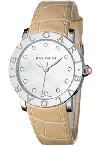 Bulgari Watches - Bulgari Bulgari 37 mm - Stainless Steel - Alligator Strap - Style No: 101894 BBL37WSL/12