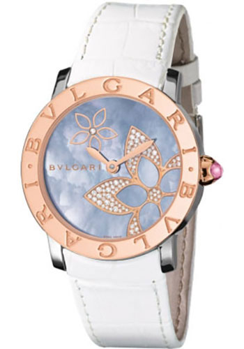 Bulgari Watches - Bulgari Bulgari 33 mm - Steel and Pink Gold - Alligator Strap - Style No: 101896 BBL33FDSPGL