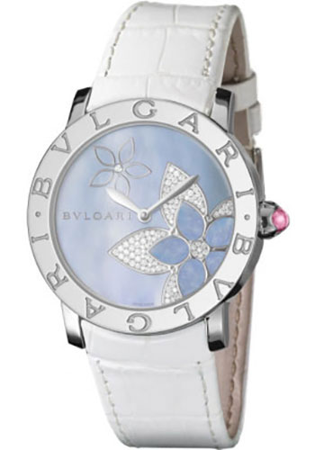Bulgari Watches - Bulgari Bulgari 37 mm - Stainless Steel - Alligator Strap - Style No: 101897 BBL37FDSL