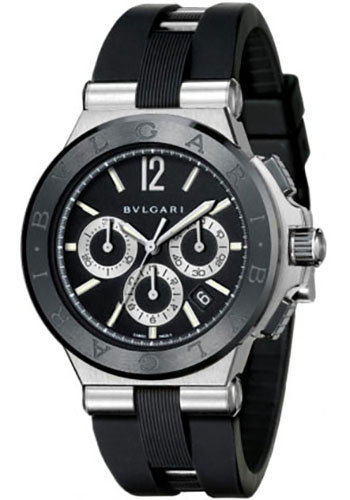 Bulgari Watches - Diagono 42 mm - Steel and Black Ceramic - Style No: 101992 DG42BSCVDCH