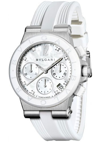 Bulgari Watches - Diagono 37 mm - Stainless Steel - Style No: 101993 DG37WSCVDCH/8