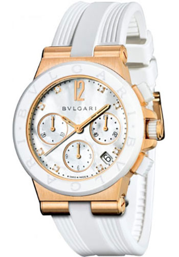Bulgari Watches - Diagono 37 mm - Pink Gold - Style No: 101994 DGP37WGCVDCH/8