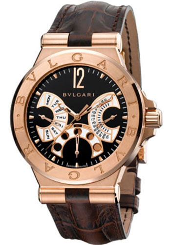 Bulgari Watches - Diagono 42 mm - Pink Gold - Style No: 102026 DGP42BGLDMP/N