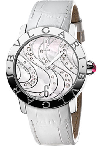 Bulgari Watches - Bulgari Bulgari 37 mm - Stainless Steel - Alligator Strap - Style No: 102030 BBL37WCDSL