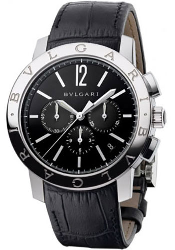 Bulgari Watches - Bulgari Bulgari 41 mm - Stainless Steel - Alligator Strap - Style No: 102043 BB41BSLDCH