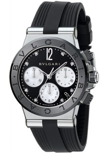 Bulgari Watches - Diagono 37 mm - Stainless Steel - Style No: 102049 DG37BSBCVDCH/8