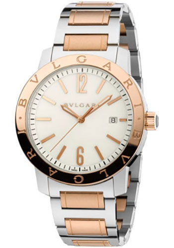 Bulgari Watches - Bulgari Bulgari 41 mm - Steel and Pink Gold - Bracelet - Style No: 102053 BB41WSPGD