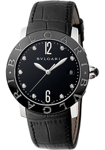 Bulgari Watches - Bulgari Bulgari 37 mm - Stainless Steel - Alligator Strap - Style No: 102054 BBL37BSBCLD/9