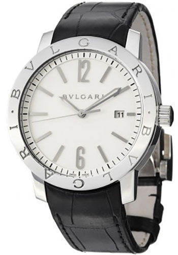 Bulgari Watches - Bulgari Bulgari 41 mm - Stainless Steel - Alligator Strap - Style No: 102056 BB41WSLD