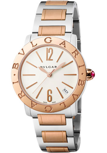 Bulgari Watches - Bulgari Bulgari 33 mm - Steel and Pink Gold - Bracelet - Style No: 102071 BBL33WSPGD