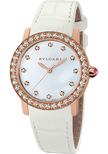 Bulgari Watches - Bulgari Bulgari 33 mm - Pink Gold - Alligator Strap - Style No: 102089 BBLP33WGDL/12