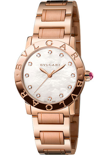 Bulgari Watches - Bulgari Bulgari 33 mm - Pink Gold - Bracelet - Style No: 102090 BBLP33WGG/12