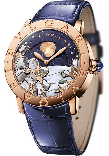 Bulgari Watches - Bulgari Bulgari 37 mm - Pink Gold - Alligaotr Strap - Style No: 102091 BBLP37CDGLMP
