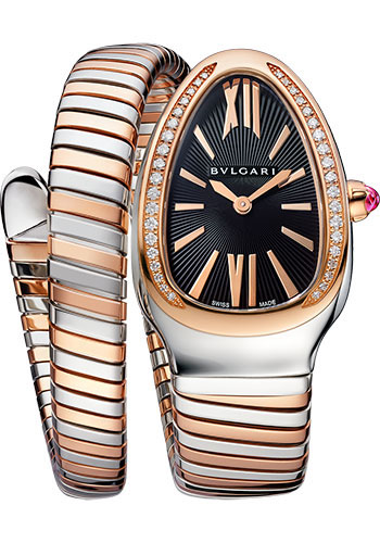Bulgari Watches - Serpenti Tubogas - 35 mm - Steel and Rose Gold - Style No: 102098