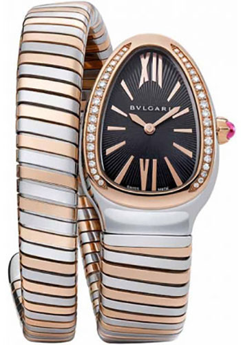 Bulgari Watches - Serpenti 35 mm - Steel and Pink Gold - Style No: 102098 SP35BSPGD.1T