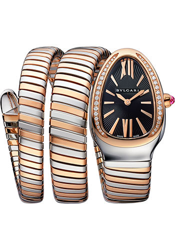 Bulgari Watches - Serpenti Tubogas - 35 mm - Steel and Rose Gold - Style No: 102099