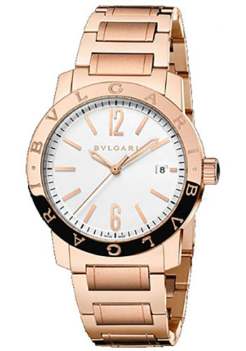 Bulgari Watches - Bulgari Bulgari 41 mm - Pink Gold - Bracelet - Style No: 102106 BBP39WGGD