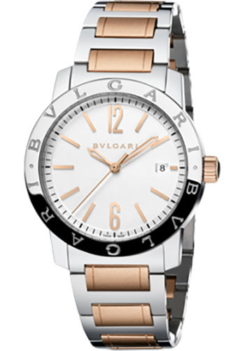 Bulgari Watches - Bulgari Bulgari 39 mm - Steel and Pink Gold - Bracelet - Style No: 102108 BB39WSPGD