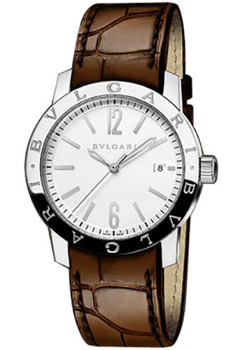Bulgari Watches - Bulgari Bulgari 39 mm - Stainless Steel - Alligator Strap - Style No: 102111 BB39WSLD