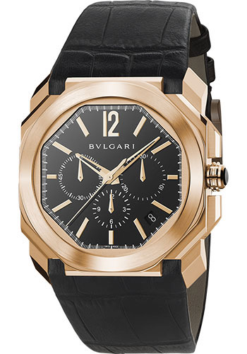 Bulgari Watches - Octo Chronograph - 41 mm - Pink Gold - Style No: 102115