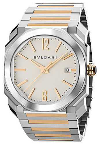Bulgari Watches - Octo 38 mm - Steel and Pink Gold - Style No: 102118 BGO38WSPGD