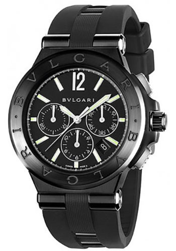 Bulgari Watches - Diagono 42 mm - Steel and Black Ceramic - Style No: 102122 DG42BBSCVDCH