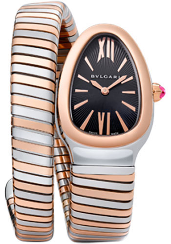 Bulgari Watches - Serpenti 35 mm - Steel and Pink Gold - Style No: 102123 SP35BSPG.1T