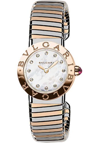 Bulgari Watches - Bulgari Bulgari 26 mm - Steel and Pink Gold - Tobogas Bracelet - Style No: 102147 BBL262TWSPG/12.M