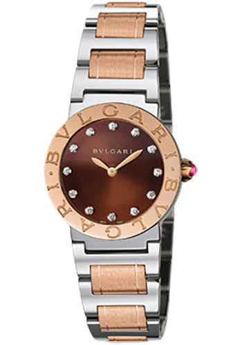 Bulgari Watches - Bulgari Bulgari 26 mm - Steel and Pink Gold - Bracelet - Style No: 102155 BBL26C11SPG/12
