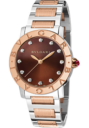 Bulgari Watches - Bulgari Bulgari 33 mm - Steel and Pink Gold - Bracelet - Style No: 102157 BBL33C11SPG/12