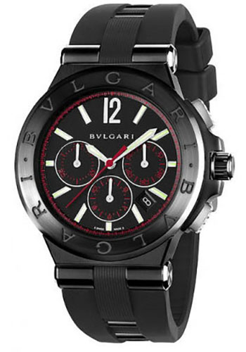 Bulgari Watches - Diagono 42 mm - Steel and Black Ceramic - Style No: 102160 DG42BBSCVDCH/1