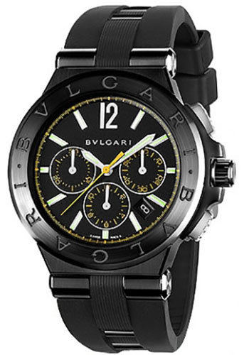 Bulgari Watches - Diagono 42 mm - Steel and Black Ceramic - Style No: 102161 DG42BBSCVDCH/2