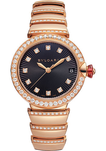 Bulgari Watches - Lucea 33 mm - Pink Gold - Style No: 102191