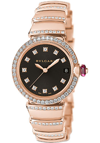 Bulgari Watches - Lucea 33 mm - Pink Gold - Style No: 102191 LUP33BGDGD1D/11