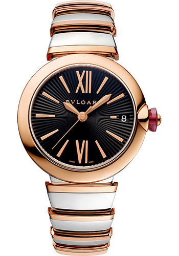 Bulgari Watches - Lucea 33 mm - Steel and Pink Gold - Style No: 102192