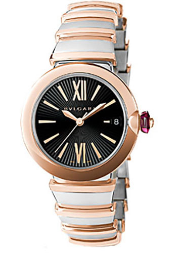 Bulgari Watches - Lucea 33 mm - Steel and Pink Gold - Style No: 102192 LU33BSPGSPGD