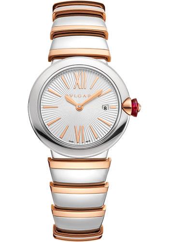 Bulgari Watches - Lucea 28 mm - Steel and Pink Gold - Style No: 102193