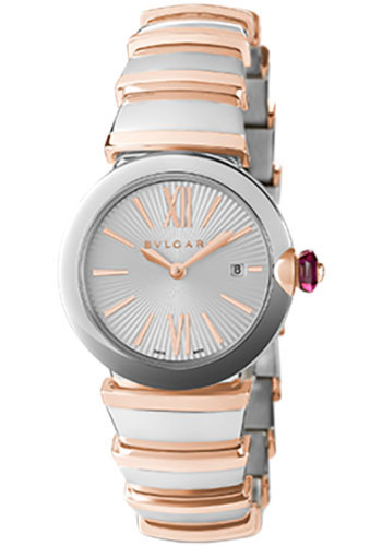 Bulgari Watches - Lucea 28 mm - Steel and Pink Gold - Style No: 102193 LU28C6SSPGD