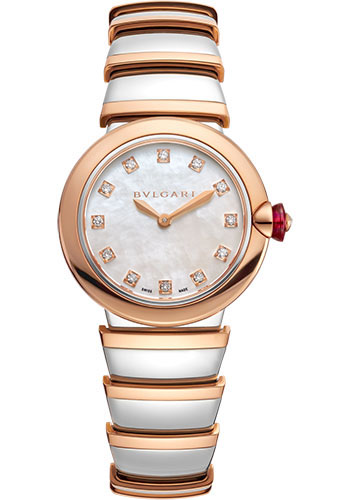 Bulgari Watches - Lucea 28 mm - Steel and Pink Gold - Style No: 102194