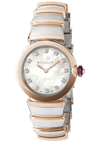 Bulgari Watches - Lucea 28 mm - Steel and Pink Gold - Style No: 102194 LU28WSPGSPG/12