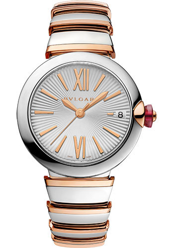 Bulgari Watches - Lucea 33 mm - Steel and Pink Gold - Style No: 102197