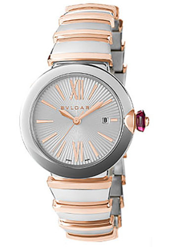 Bulgari Watches - Lucea 33 mm - Steel and Pink Gold - Style No: 102197 LU33C6SSPGD
